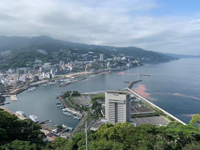 2日目午後:熱海城から景色を一望