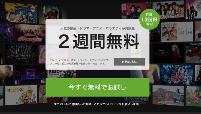 動画配信サービス(VOD)のランキング